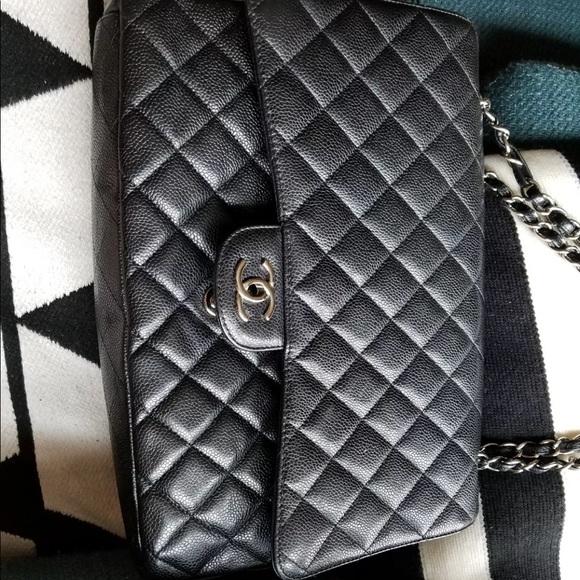 451196d0016f CHANEL Handbags - Chanel Jumbo Maxi Black Caviar Flap Bag